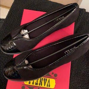 Vaneli black suede slip on!